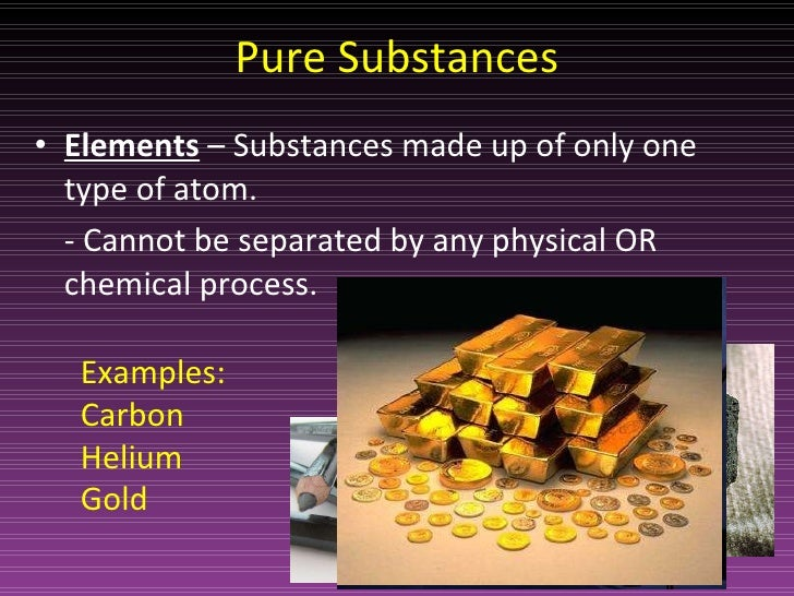 Classification of matter.