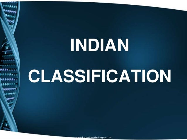 INDIANCLASSIFICATIONwww.drjayeshpatidar.blogspot.com