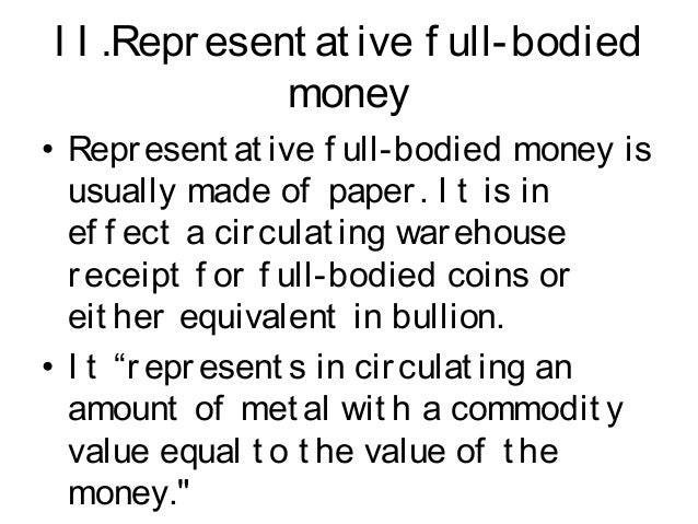 classification of money There are three types of money in the economy, but as members of the public, we will have only ever used two of them – cash, and the numbers in your bank account 1.