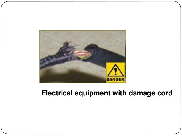 Electrical equipment with damage cord