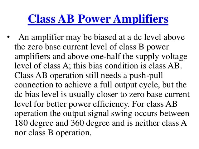 classification of power amplifiers. Black Bedroom Furniture Sets. Home Design Ideas