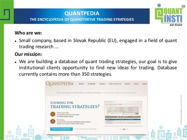 Encyclopedia of quantitative trading strategies