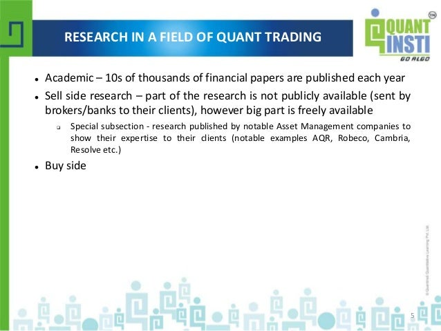 Classification of quantitative trading strategies webinar ppt