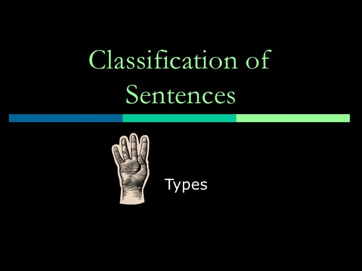 Classification of Sentences Types