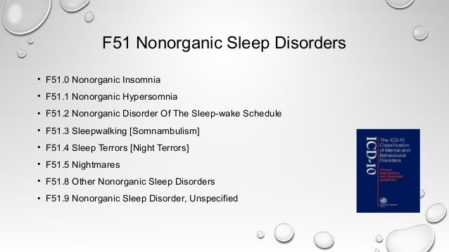 Classification of sleep disorders and parasomnias