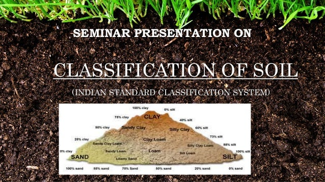 Classification of soil by iscs for Different types of soil and their characteristics