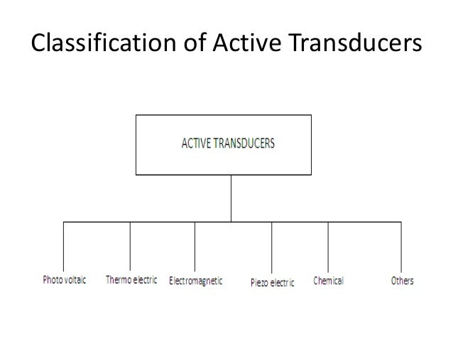 Types of transducers and their applications pdf