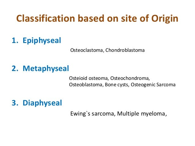 Classification of tumours and general principles of ... Multiple Myeloma