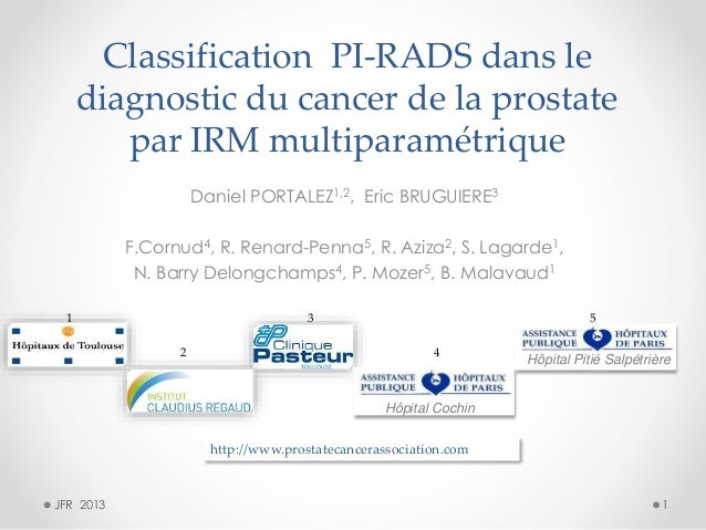 Classification PI-RADS dans le diagnostic du cancer de la prostate par IRM multiparamétrique Daniel PORTALEZ1,2, Eric BRUG...
