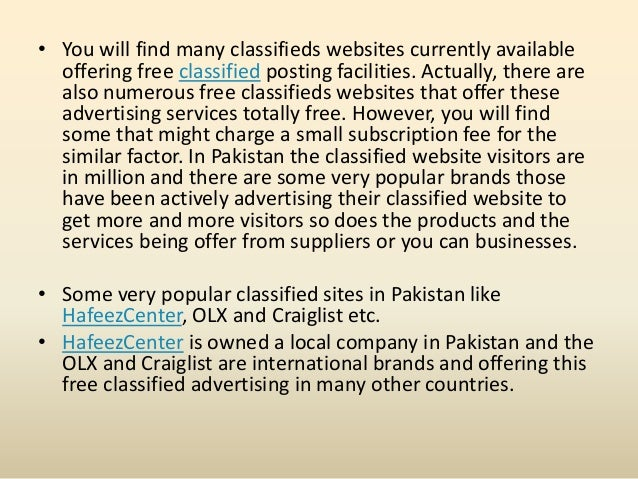 international classified sites