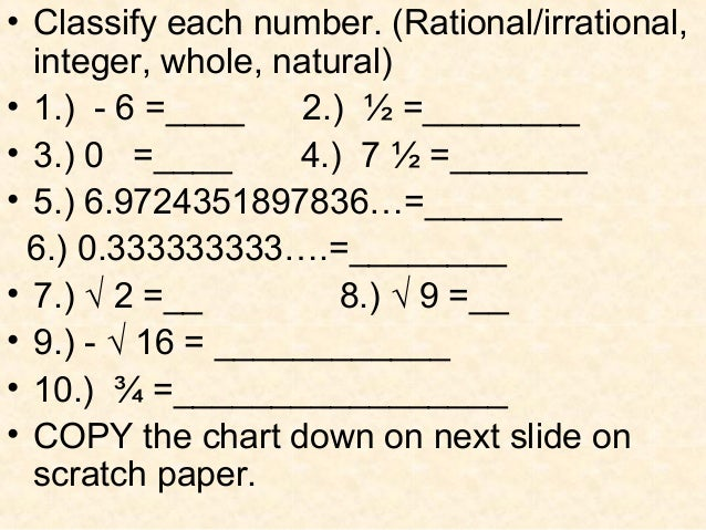 Don't FAL Out; Techno IN! Classifying Rational & Irrational Numbers