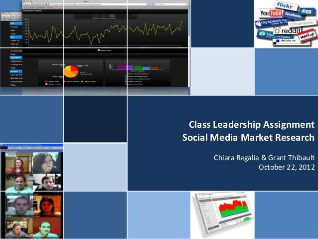 Class Leadership AssignmentSocial Media Market Research      Chiara Regalia & Grant Thibault                    October 22...