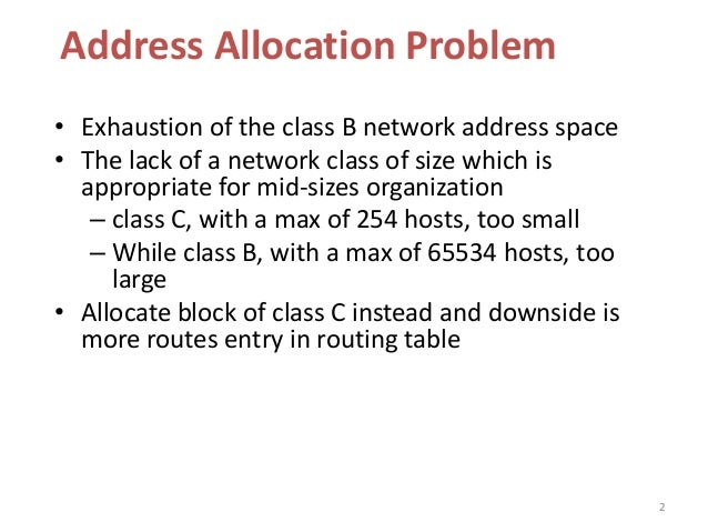 Classless inter domain routing Slide 2