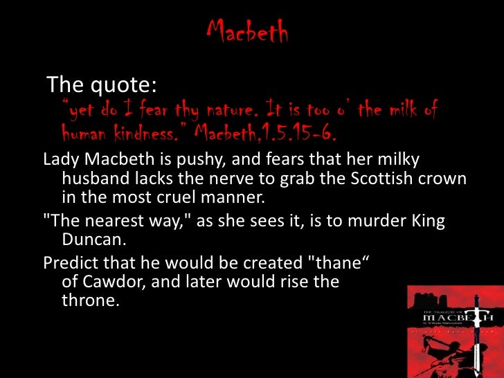 Quotes On Human Nature In Macbeth