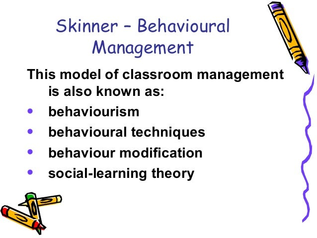 notes on skinners behavioural theory Ademola stephen tayo one of the leading proponents of the behavioristic school of thought is b f skinner his theory has skinner furthers notes that.