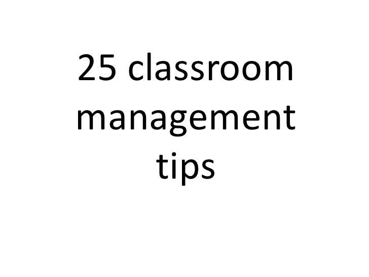 25 classroommanagement     tips