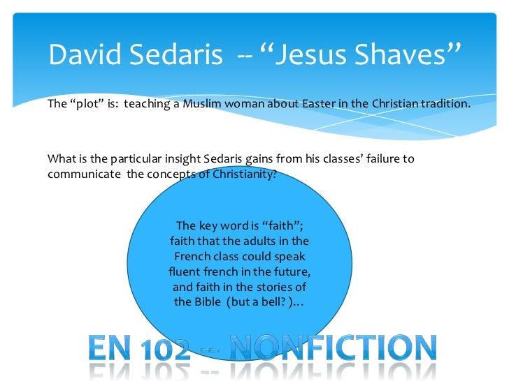 david sedaris jesus shaves