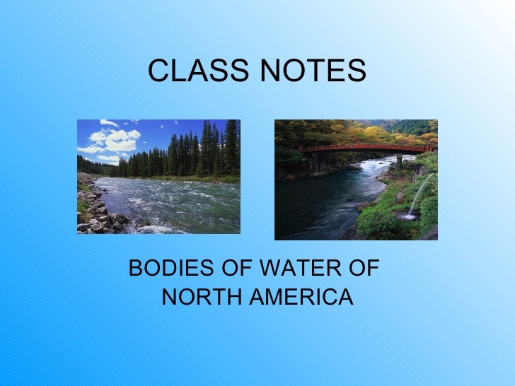 Class notes  water features