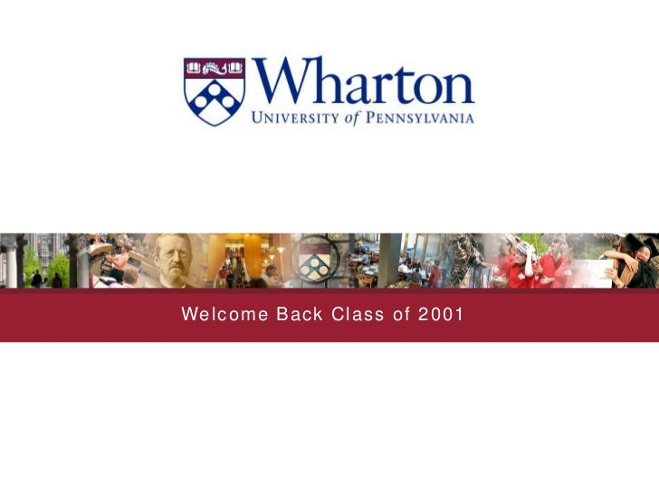 Welcome Back Class of 2001<br />