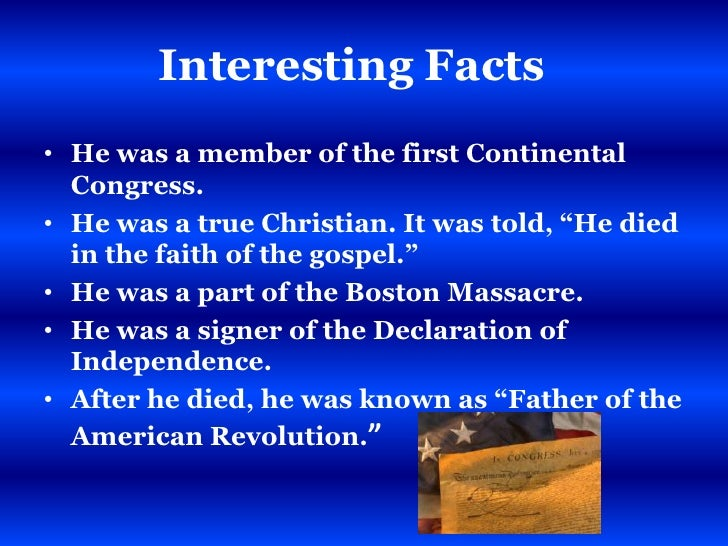 Th Grade Revolution Powerpoint - American revolution facts