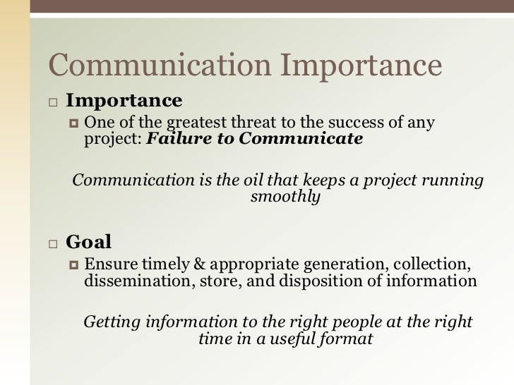 Importance of Communication in Project Managment