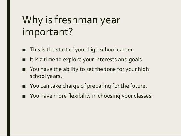 freshmen year of high school