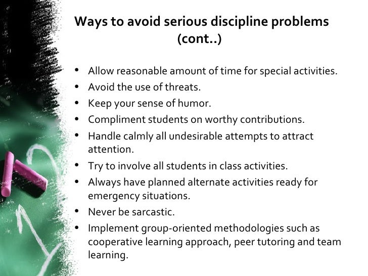 rise of disciplinary problems