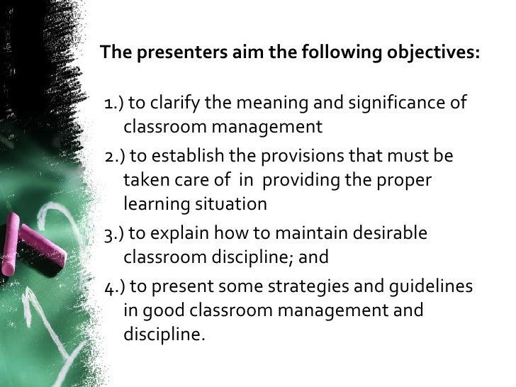 Classroom Management Presentation
