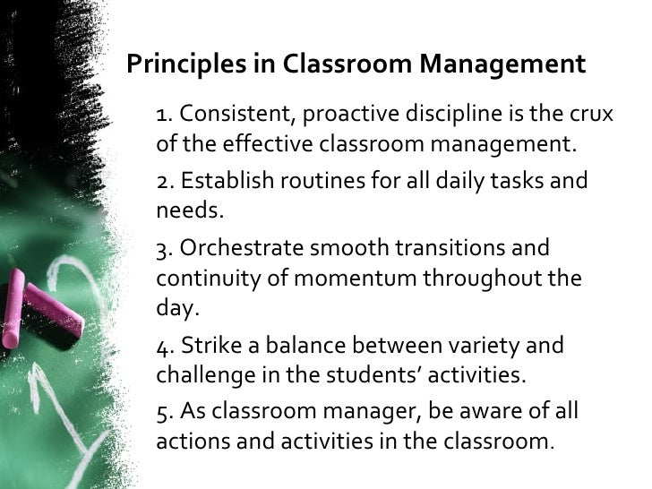 classroom management presentation directing and controlling learning 8 principles in classroom management