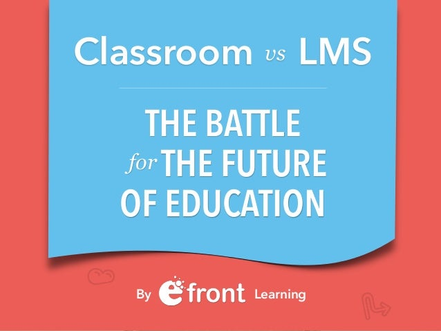 THE BATTLE THE FUTURE OF EDUCATION for Classroom LMS By Learning vs