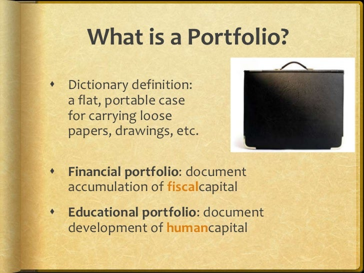 Definition Modular Classroom ~ What is a portfolio dictionary