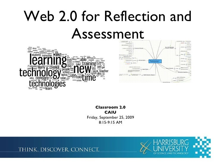 Web 2.0 for Reflection and Assessment Classroom 2.0 CAIU Friday, September 25, 2009 8:15-9:15 AM