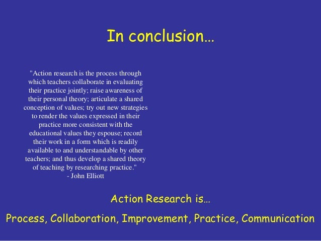 conclusion of action research