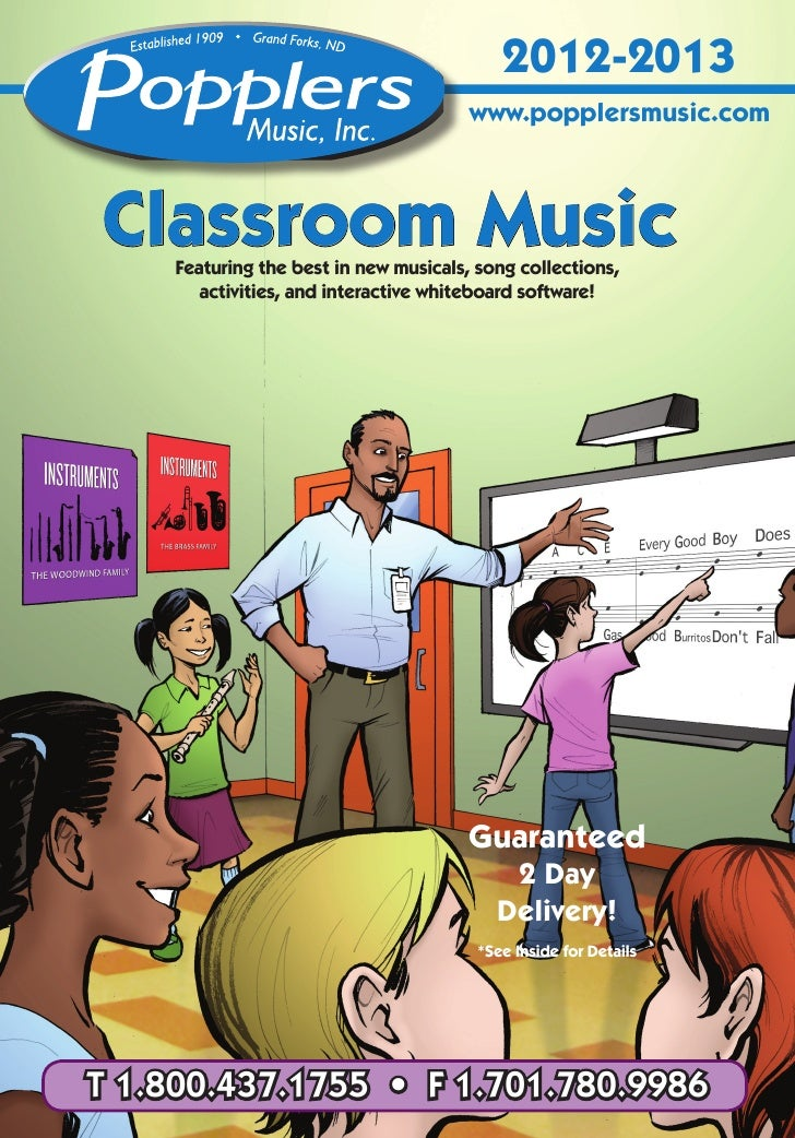 2012-2013                                        www.popplersmusic.comClassroom Music     Featuring the best in new musica...