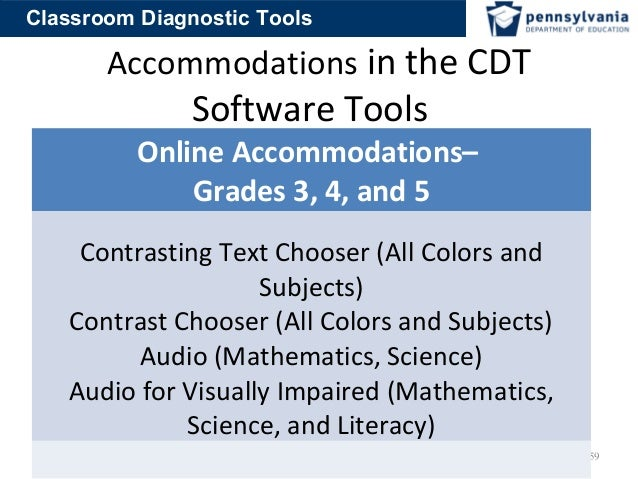 Classroom Design For Visually Impaired ~ Classroom diagnostic tools training