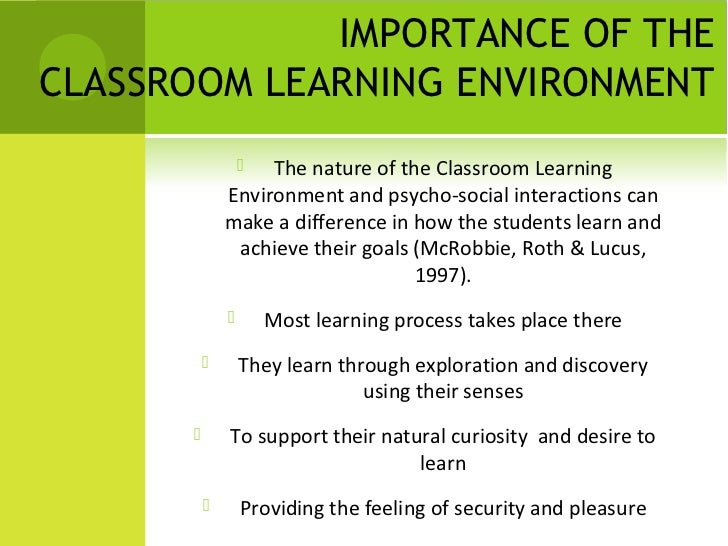 edu500assnmt 1 defining learning environment Mentorship part 1: the role in the learning environment p because the learning environments in which the students are placed the nmc's definition of a.