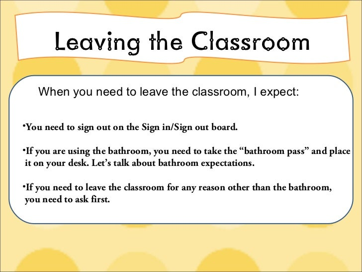 Bathroom Sign Out Classroom classroom expectations