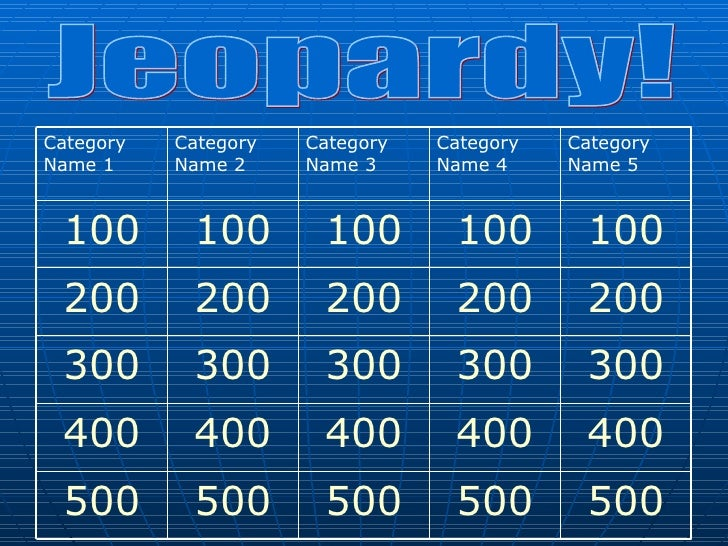 Jeopardy Powerpoint Template 6 Categories