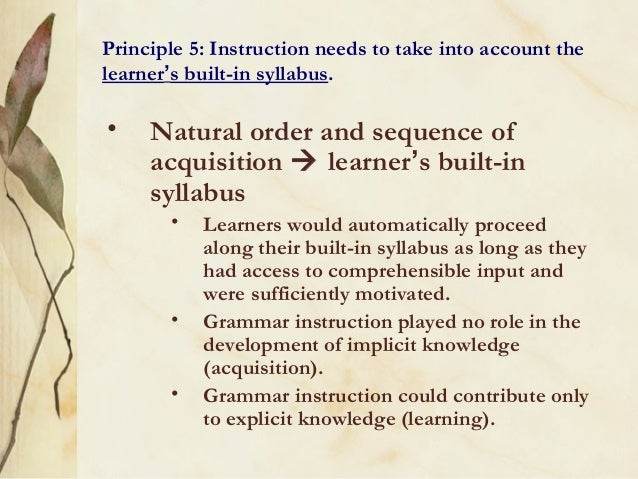 the definition of implicit and explicit knowledge and their roles in l2 grammar instruction With reference to these stances, two points of particular interest to l2 classroom instruction are: which type of knowledge contributes more effectively to learning and which type of teaching, explicit or implicit, provides more assistance to.