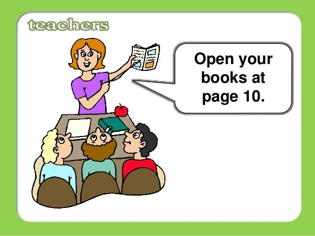 Open your books at page 10.