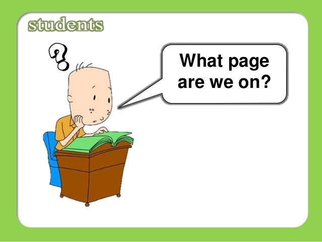 What page are we on?