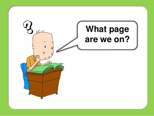 Image result for what page are we on