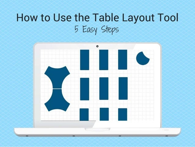 "STEP 1: Visit www.interiorconcepts.com. Under the ""Design Ideas"" navigation tab, locate and click on ""Table LayoutTool."""