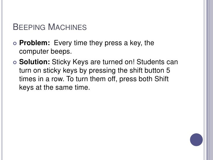 Classroom Management in the Computer Lab