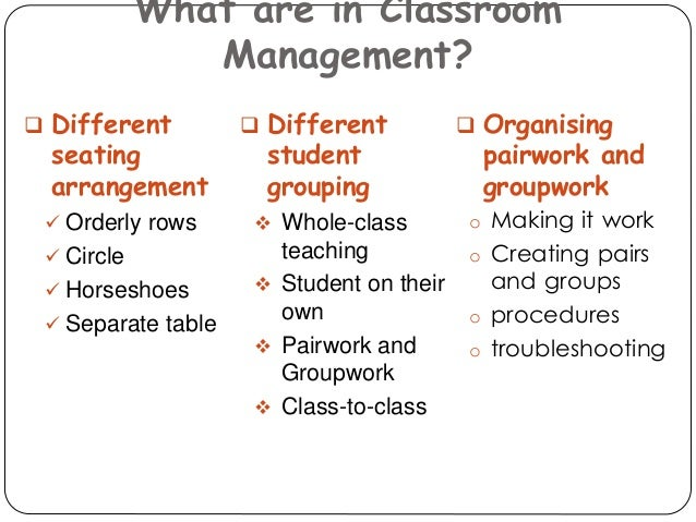 classroom management that works pdf