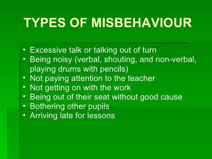 Classroom management: discipline problems