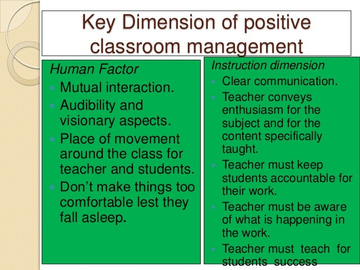 Classroom management i