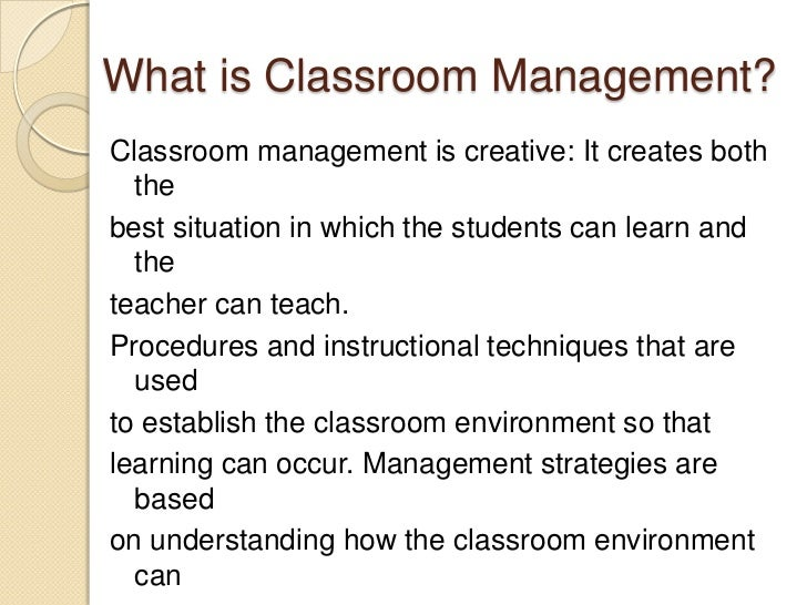 classroom management paper research Early childhood classroom management using research and evidenced-based strategies teaching children social and emotional skills during the early childhood years is critical for later success in school.