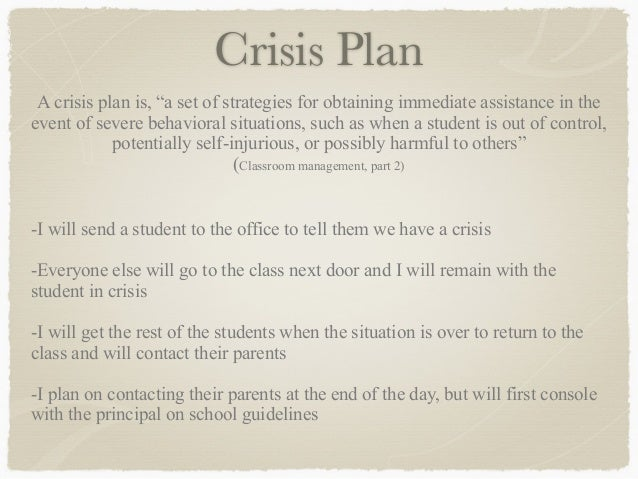 Classroom Management Plan - Kirsten Dale