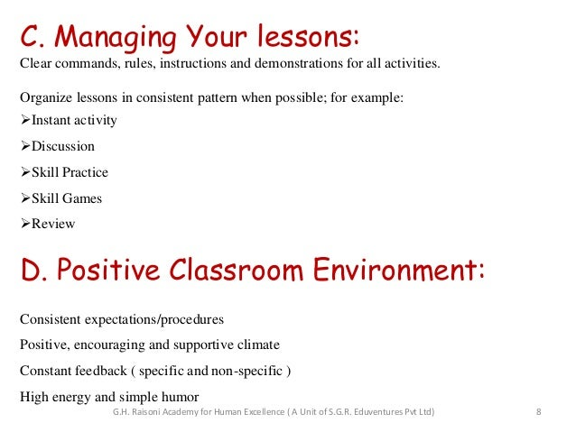 Research paper classroom management
